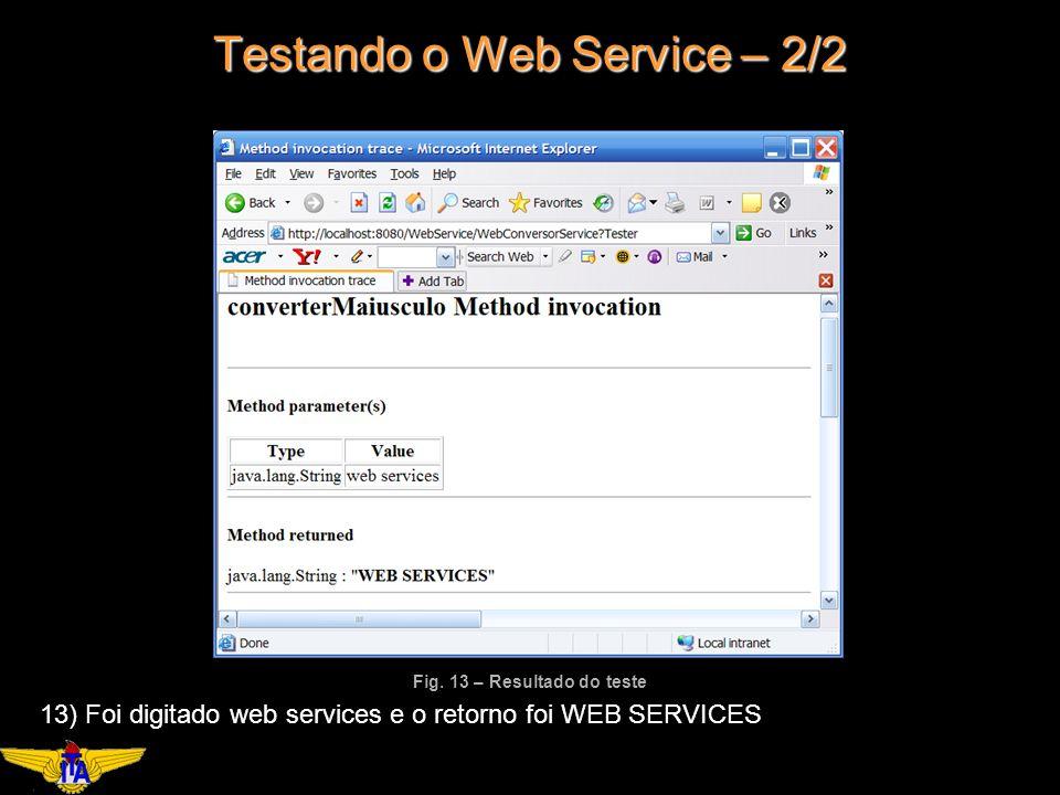 Testando o Web Service – 2/2 Fig.
