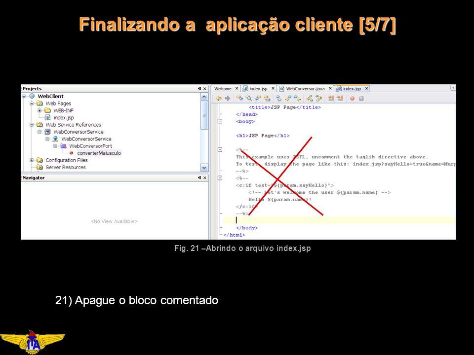 Finalizando a aplicação cliente [5/7] Fig.