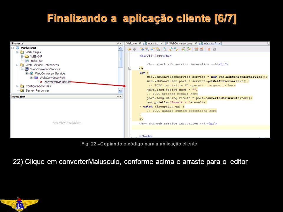 Finalizando a aplicação cliente [6/7] Fig.