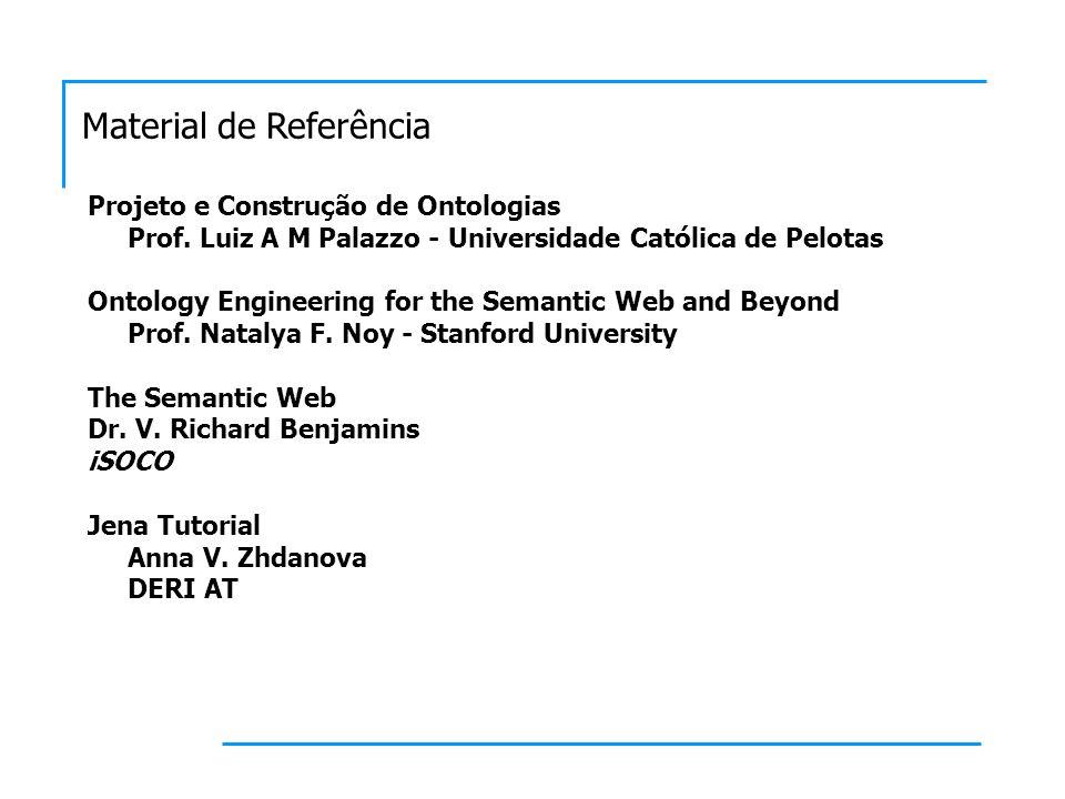 Material de Referência Ontologias, modelos e busca em JAVA Adriana da Silva Jacinto Ian Horrocks and Alan Rector University of Manchester Manchester, UK