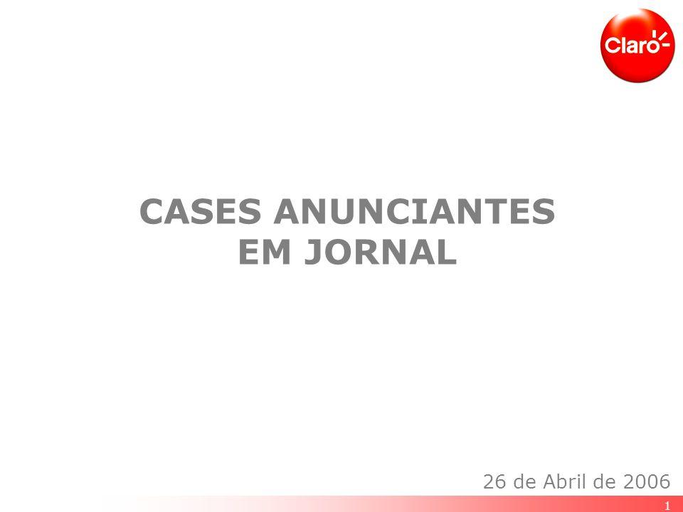 1 CASES ANUNCIANTES EM JORNAL 26 de Abril de 2006