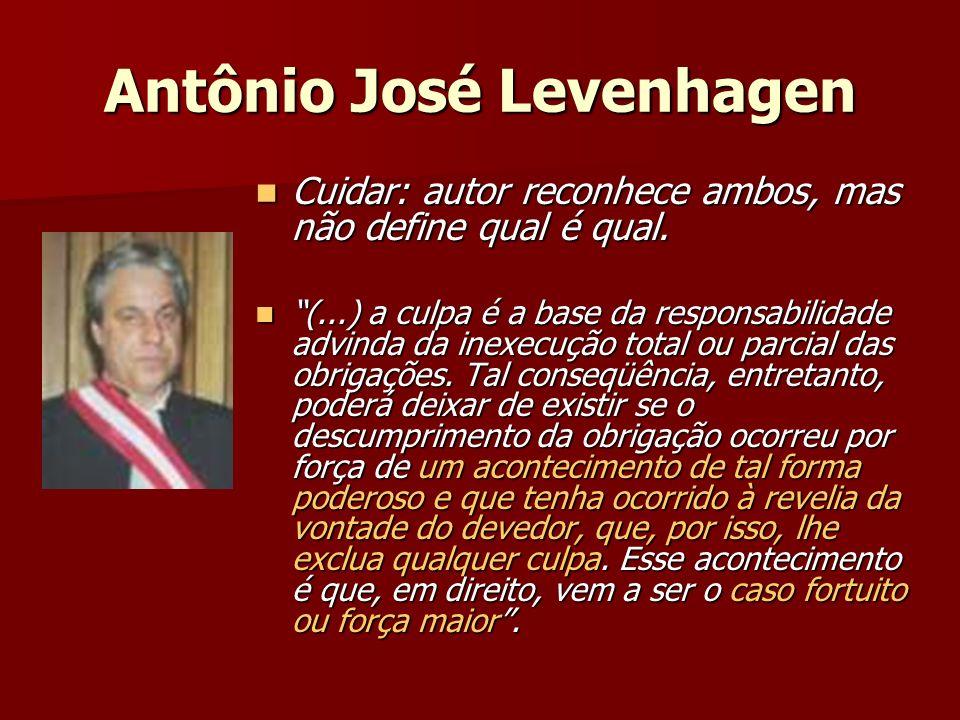 Antônio José Levenhagen Cuidar: autor reconhece ambos, mas não define qual é qual.