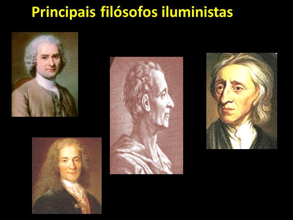 Os principais filósofos do Iluminismo foram: John Locke (1632- 1704), ele acreditava que o homem adquiria conhecimento com o passar do tempo através do empirismo;