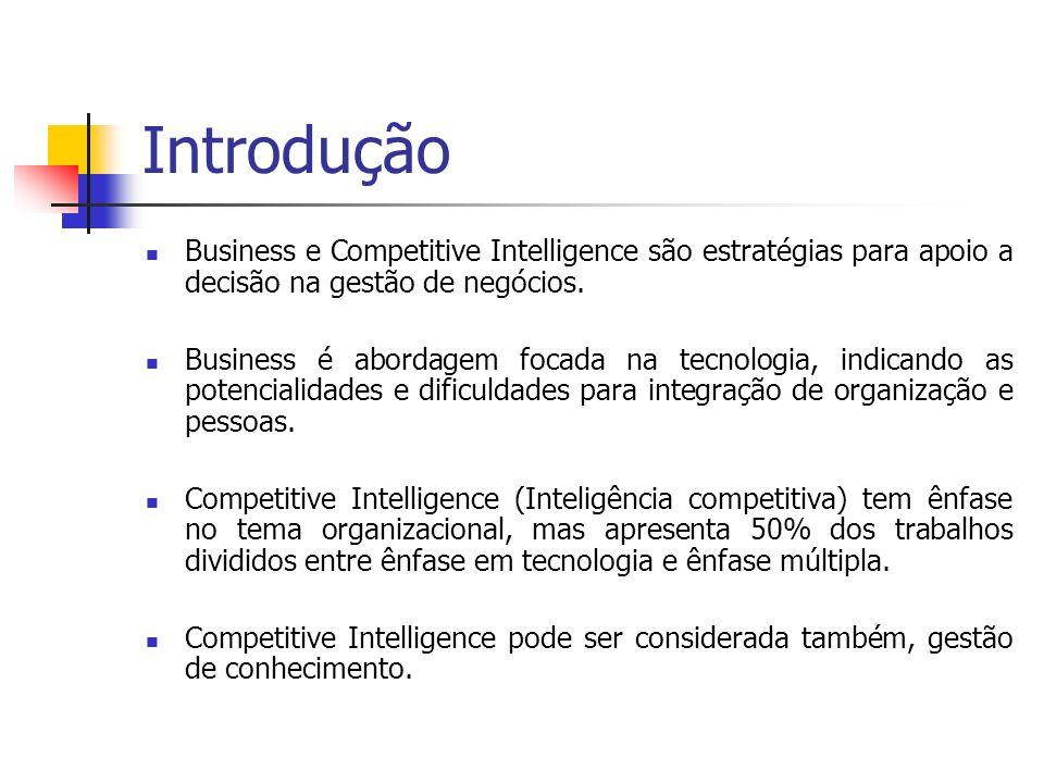 Objetivo Este trabalho tem como objetivo de explicar sobre a tecnologia de Business and Competitive Inteligence focando na gestão empresarial.