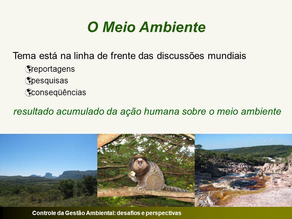 O Meio Ambiente Tema está na linha de frente das discussões mundiais reportagens pesquisas conseqüências resultado acumulado da ação humana sobre o me