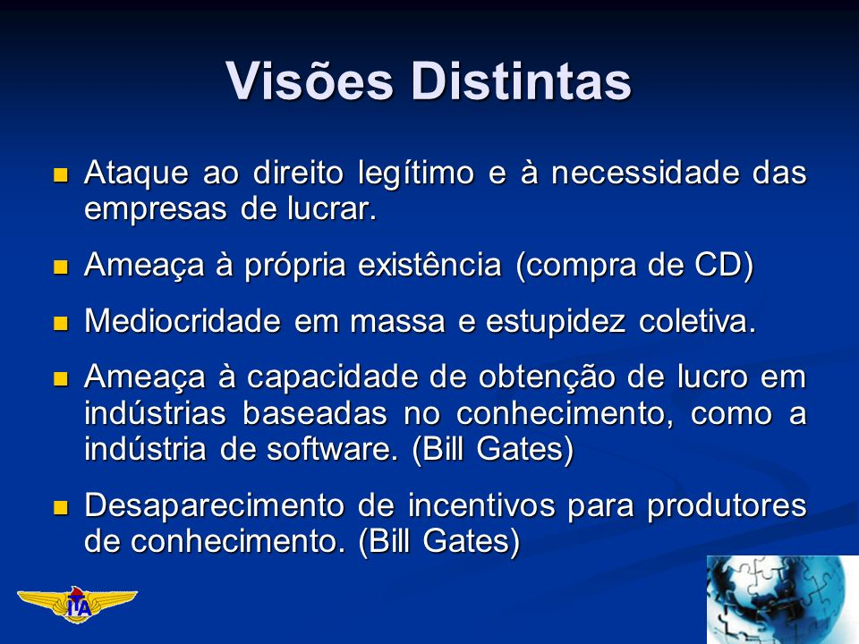 Visões Distintas Ataque ao direito legítimo e à necessidade das empresas de lucrar.