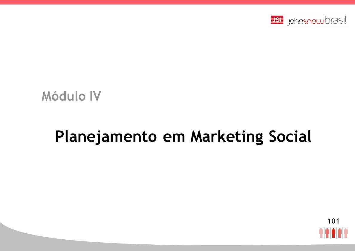 101 Módulo IV Planejamento em Marketing Social
