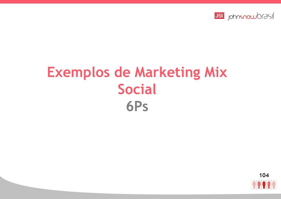 104 Exemplos de Marketing Mix Social 6Ps