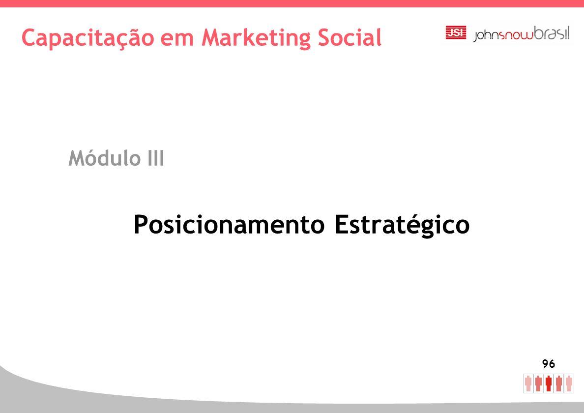 96 Capacitação em Marketing Social Módulo III Posicionamento Estratégico