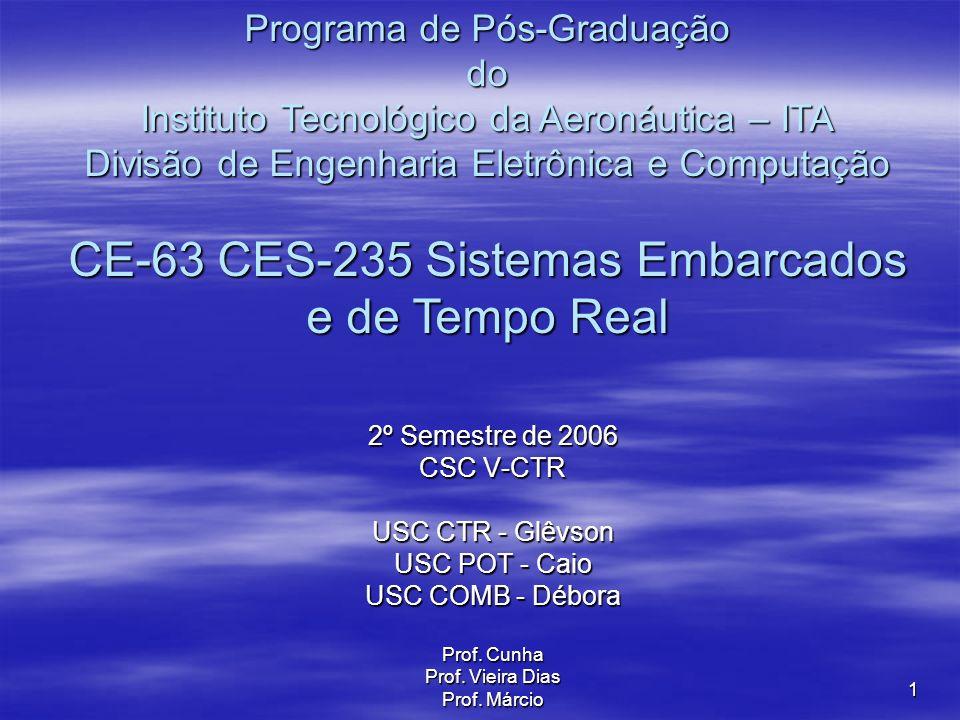 1 2º Semestre de 2006 CSC V-CTR USC CTR - Glêvson USC POT - Caio USC COMB - Débora Prof.