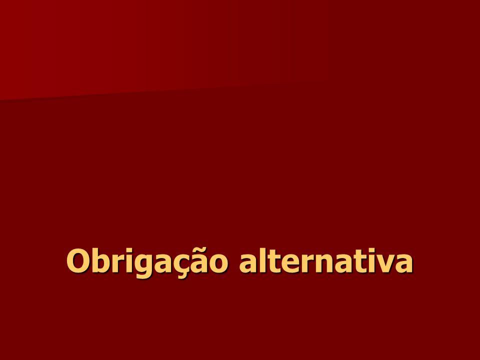 Obrigação alternativa