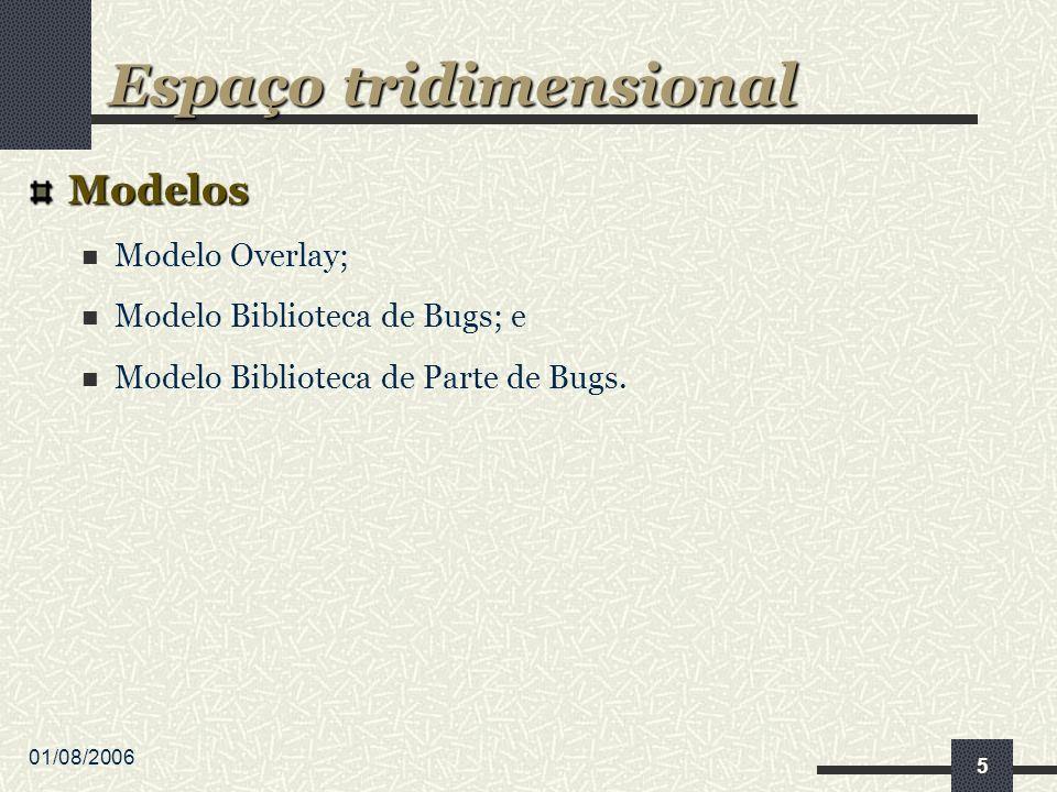 01/08/2006 5 Modelos Modelo Overlay; Modelo Biblioteca de Bugs; e Modelo Biblioteca de Parte de Bugs.