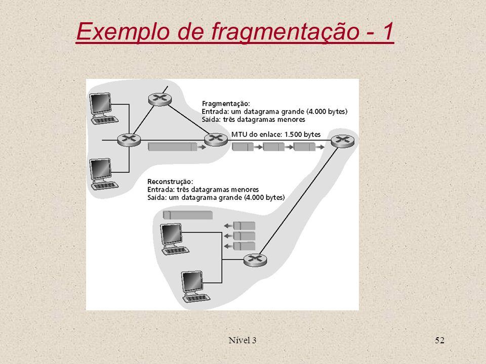 Nível 352 Exemplo de fragmentação - 1