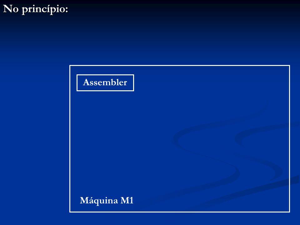 No princípio: Assembler Máquina M1