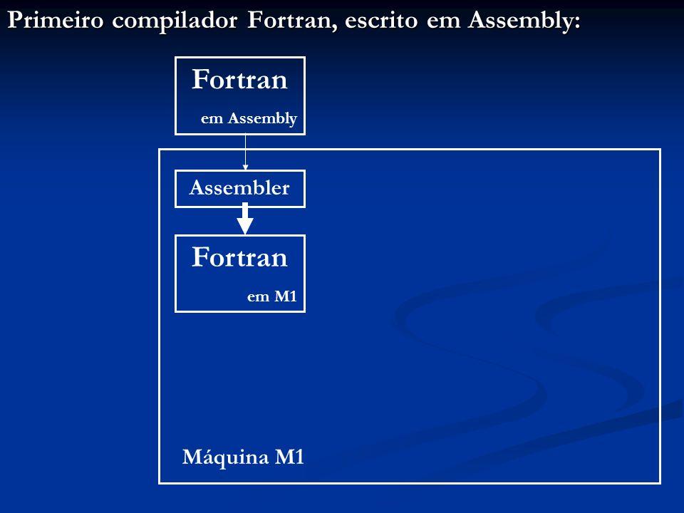 Primeiro compilador Fortran, escrito em Assembly: Assembler Máquina M1 Fortran em Assembly Fortran em M1