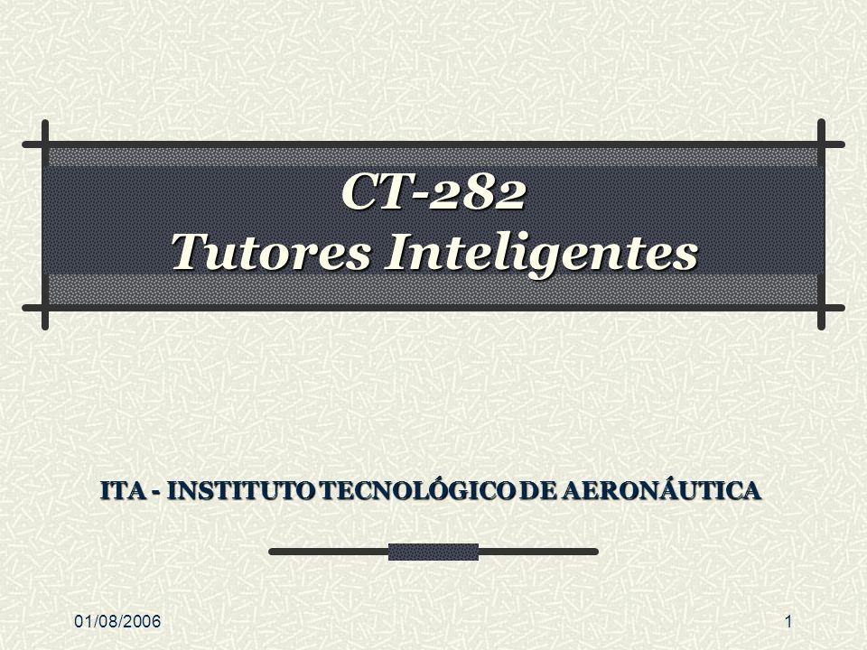 01/08/20061 CT-282 Tutores Inteligentes ITA - INSTITUTO TECNOLÓGICO DE AERONÁUTICA