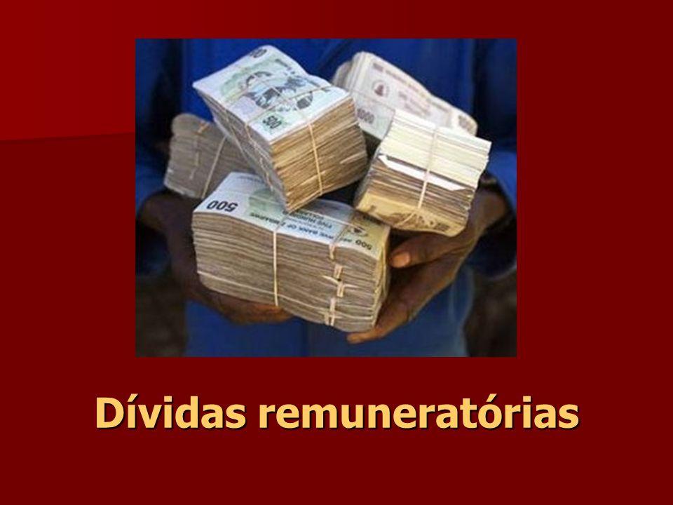 Dívidas remuneratórias