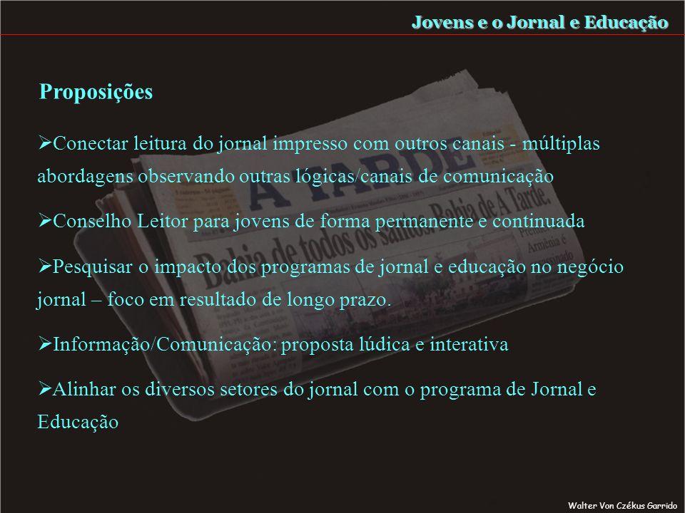 Leitor Habitual Desejo de Ler Prazer da Leitura Formação do Leitor Jovens e o Jornal e Educação Seduzir para Ler Walter Von Czékus Garrido