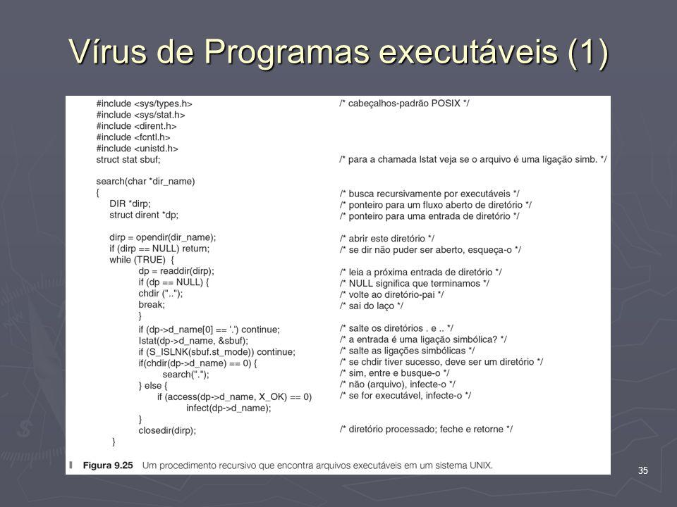 35 Vírus de Programas executáveis (1)