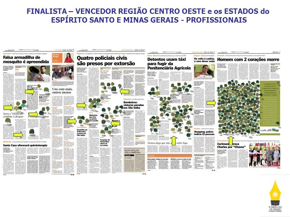 FINALISTA – VENCEDOR REGIÃO CENTRO OESTE e os ESTADOS do ESPÍRITO SANTO E MINAS GERAIS - PROFISSIONAIS