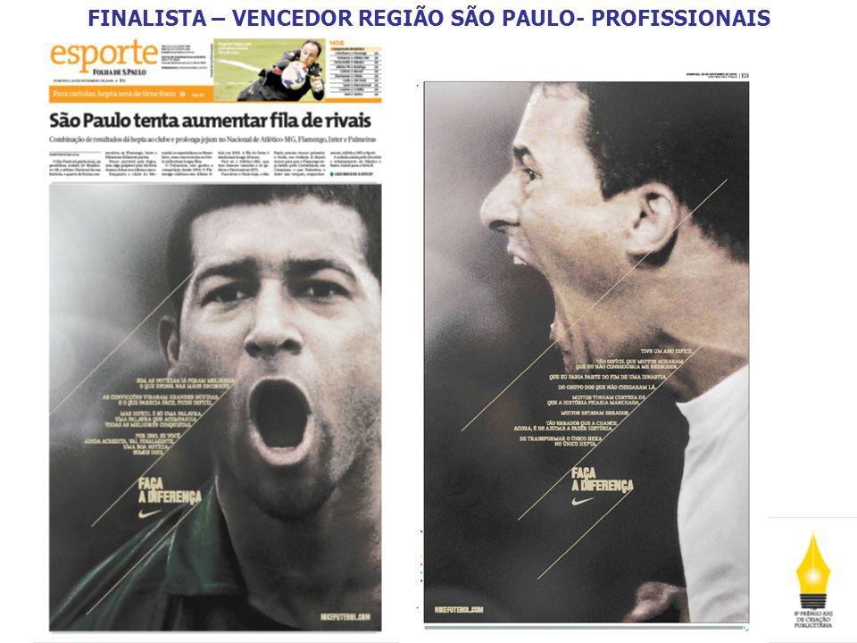 FINALISTA – VENCEDOR REGIÃO RIO DE JANEIRO - PROFISSIONAIS A Região Rio de Janeiro recebeu 96 inscrições.