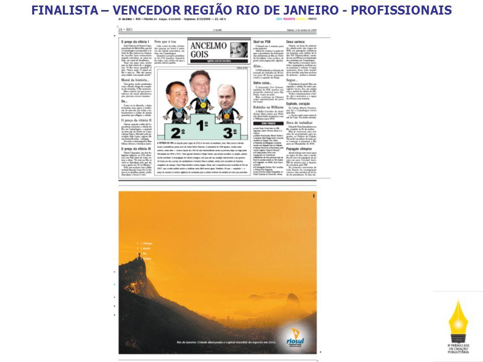 FINALISTA – VENCEDOR REGIÃO NORTE E NORDESTE - PROFISSIONAIS A Região Norte e Nordeste recebeu 274 inscrições.
