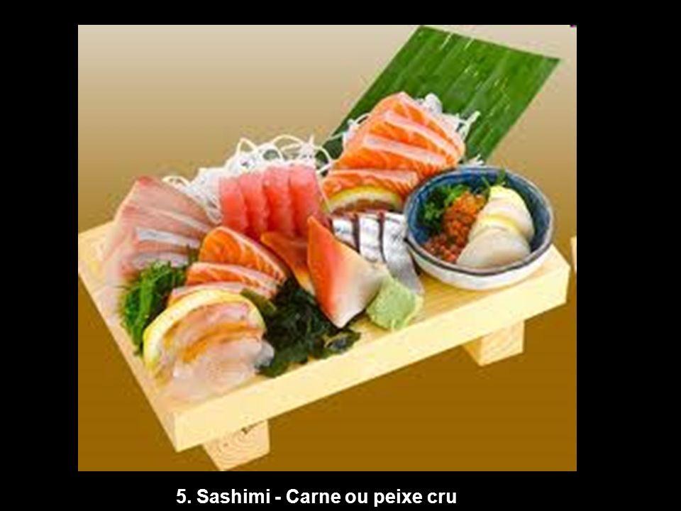 5. Sashimi - Carne ou peixe cru