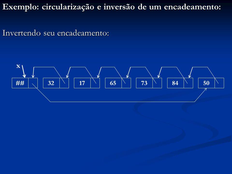 Exemplo: circularização e inversão de um encadeamento: Invertendo seu encadeamento: ##32176573 x 8450