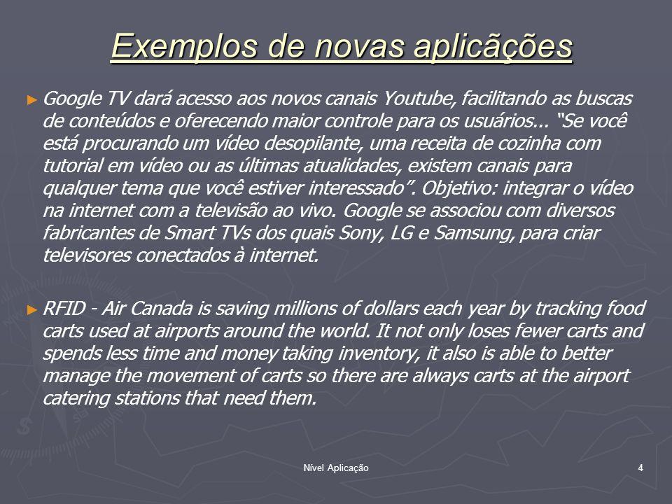 Nível Aplicação 4 Google TV dará acesso aos novos canais Youtube, facilitando as buscas de conteúdos e oferecendo maior controle para os usuários... S