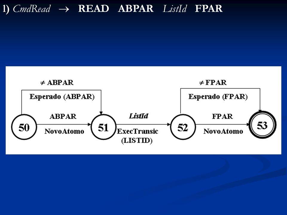 l) l) CmdRead READ ABPAR ListId FPAR