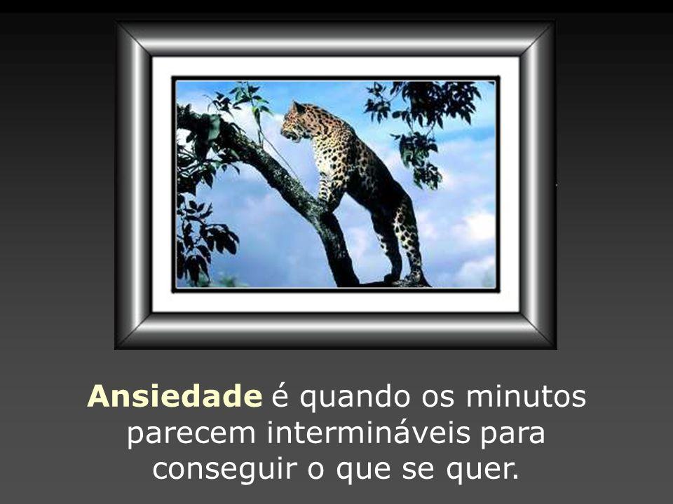 Ansiedade é quando os minutos parecem intermináveis para conseguir o que se quer.