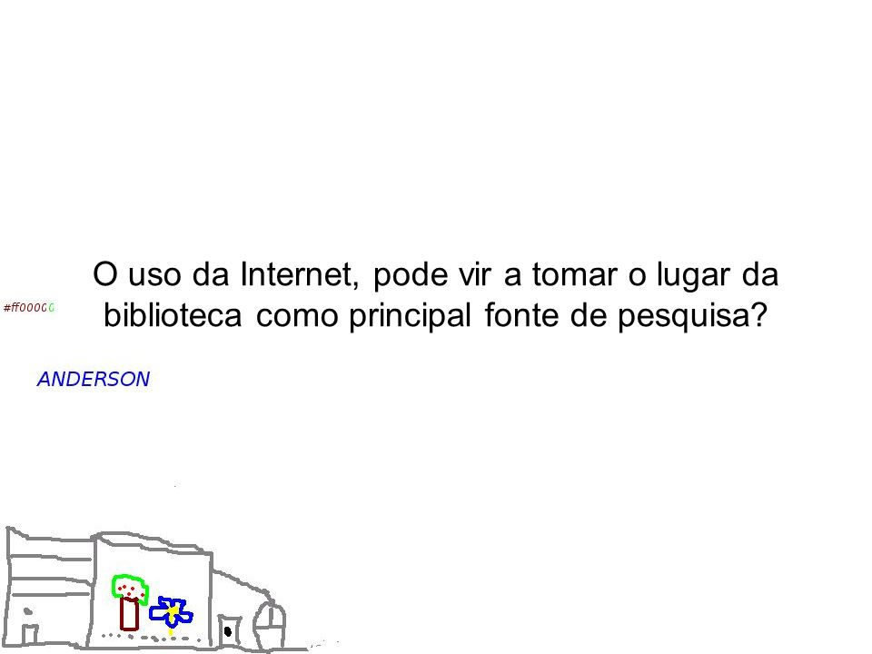 O uso da Internet, pode vir a tomar o lugar da biblioteca como principal fonte de pesquisa?