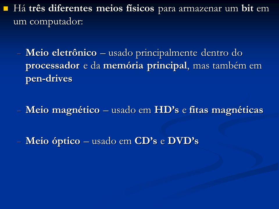 Meio eletrônico: dispositivo de nome flip-flop v Três valores de tensão: Zero: desligado Baixo: estado 0 Alto: estado 1 Na realidade, um flip-flop tem outros terminais não abordados em CES-10