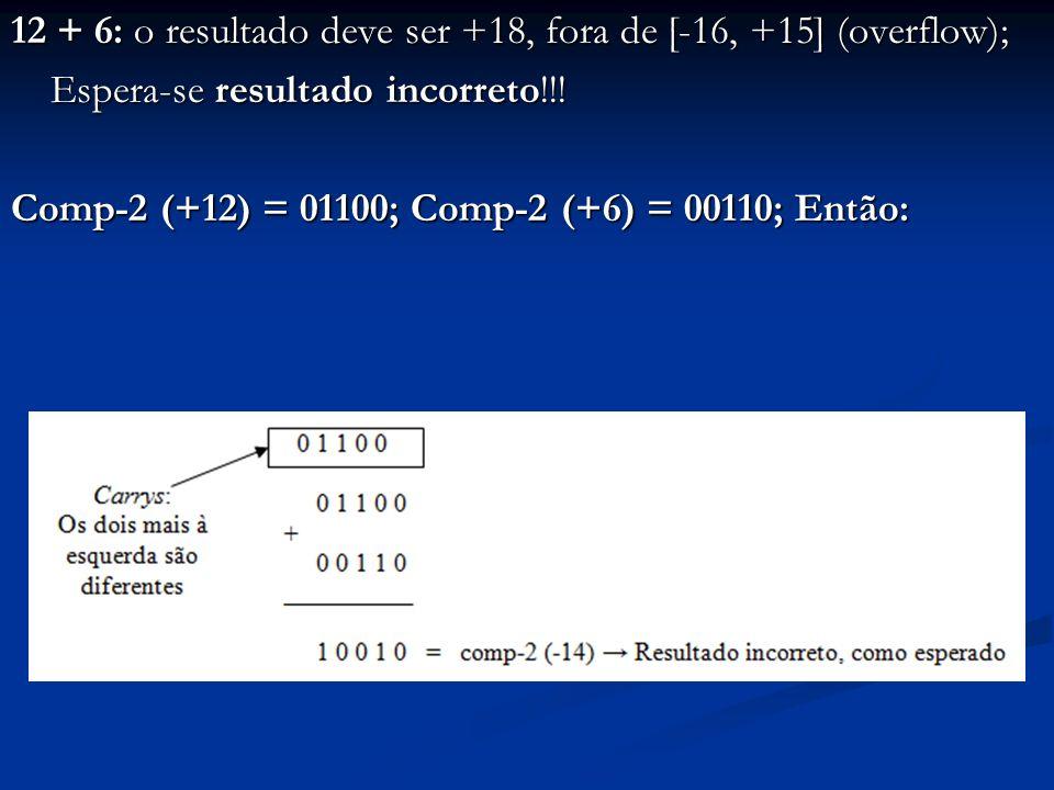(-9) + (-8): o resultado deve ser -17, fora de [-16, +15] (overflow); Espera-se resultado incorreto!!.