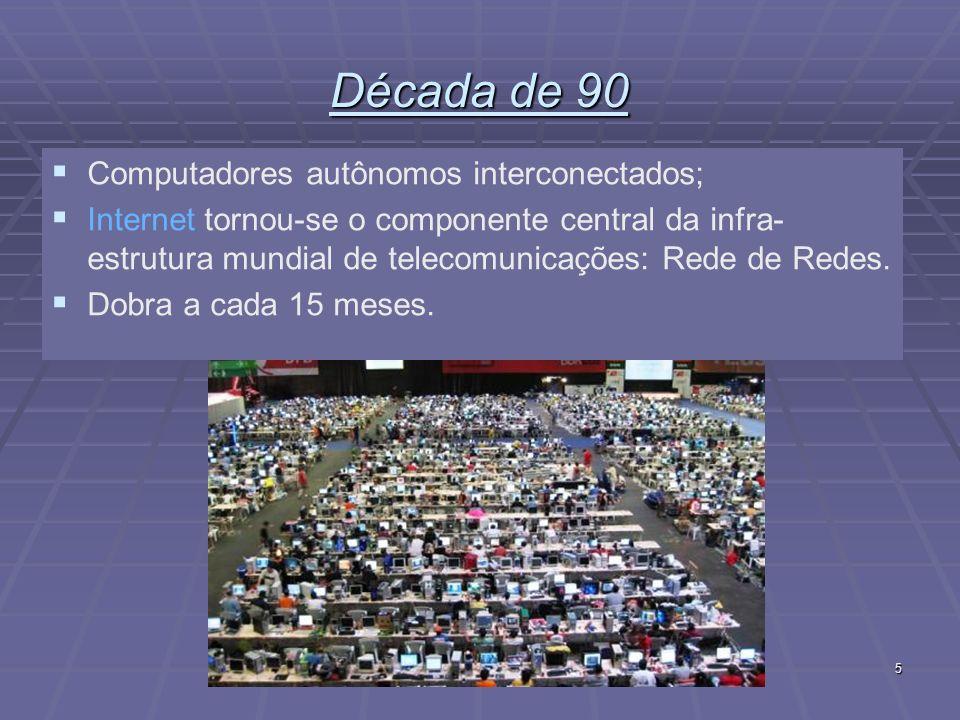 Fundamentos de Redes de Computadores16 PANs - Personal Area Networks Redes que se comunicam com o alcance de uma pessoa.