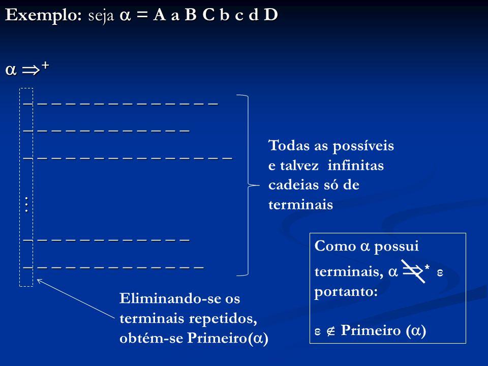 Exemplo: seja = A a B C b c d D + + _ _ _ _ _ _ _ _ _ _ _ _ _ _ _ _ _ _ _ _ _ _ _ _ _ _ _ _ _ _ _ _ _ _ _ _ _ _ _ _ _ _ _ _ _ _ _ _ _ _ _ _ _ _ _ _ _
