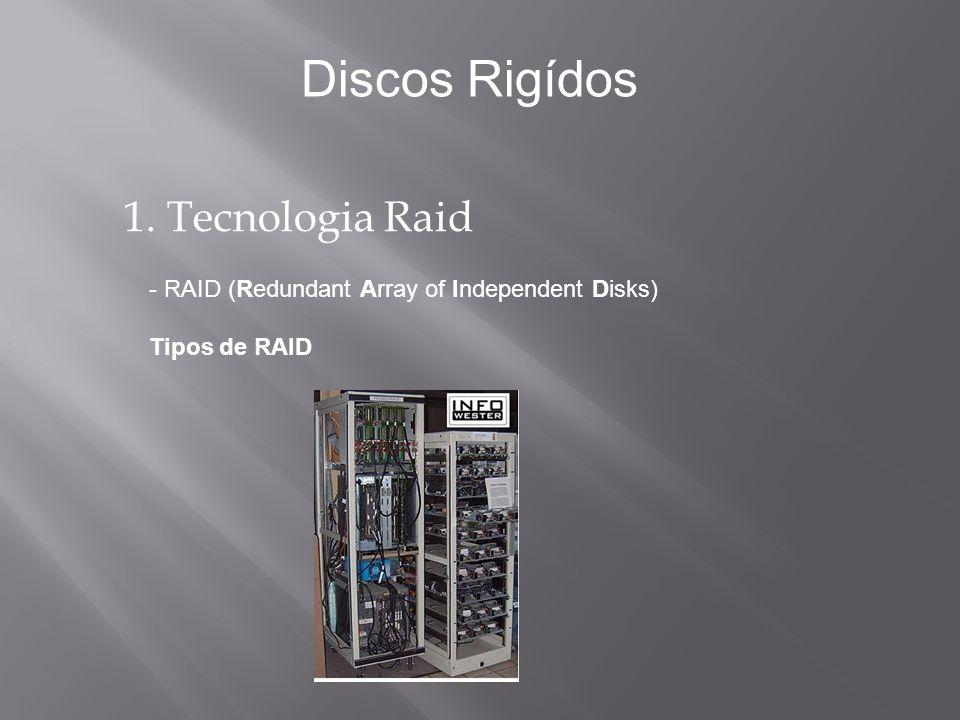 1. Tecnologia Raid - RAID (Redundant Array of Independent Disks) Tipos de RAID Discos Rigídos