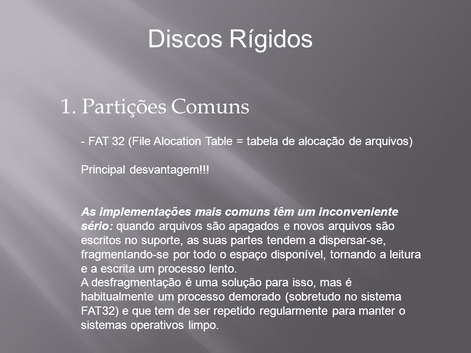 Introdução: Discos Rígidos Os discos rígidos foram inventados nos anos 50.
