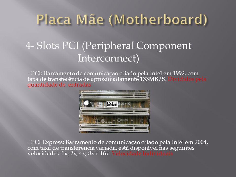 5- PCI Express (Peripheral Component Interconnect) MBPS – Mega Bits por segundo.