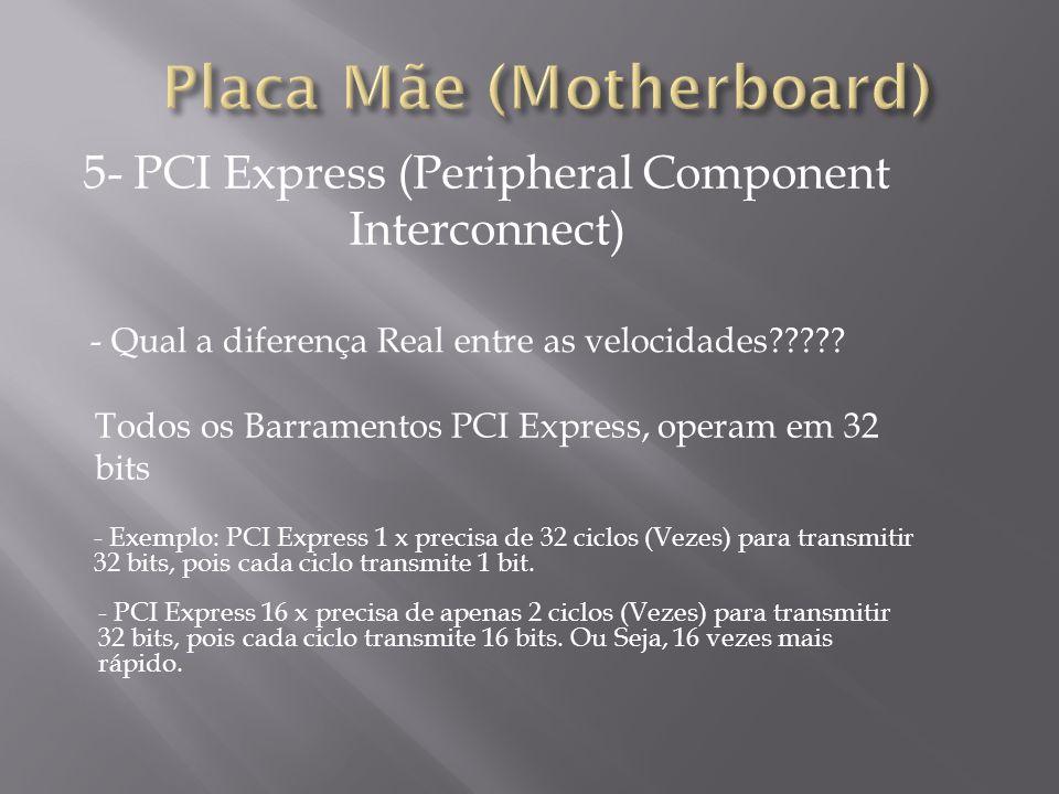 5- PCI Express (Peripheral Component Interconnect) - Exemplo das diferenças em Placas de Rede!.
