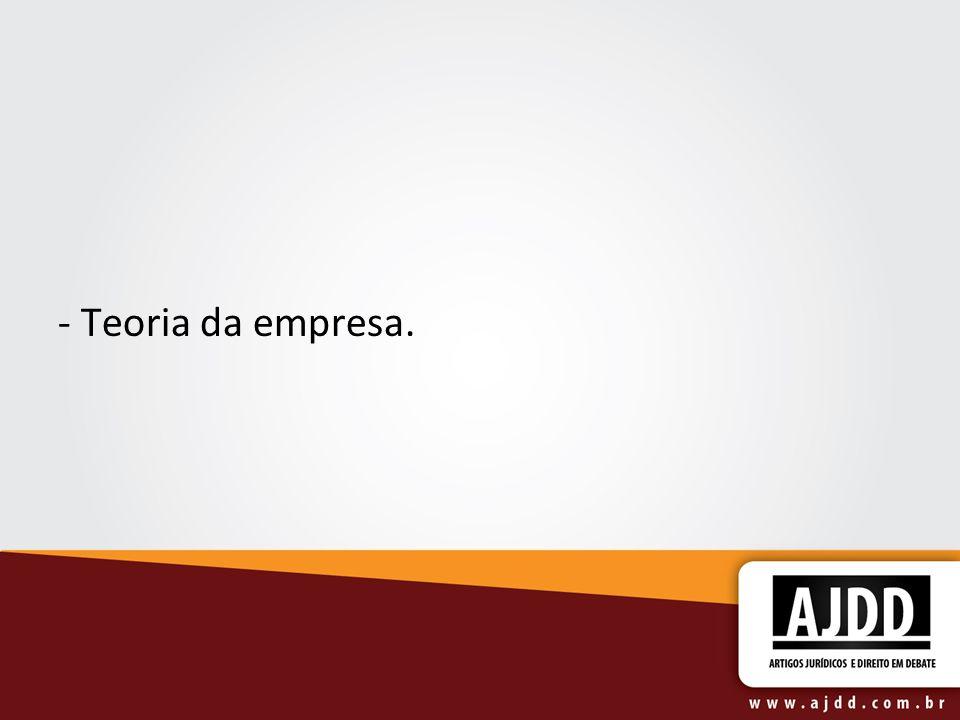 - Teoria da empresa.