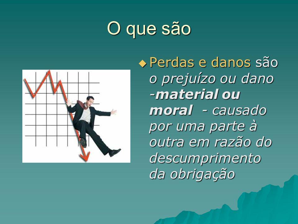 Os danos emergentes serão O dano efetivo sofrido pelo descumprimento obrigacional.