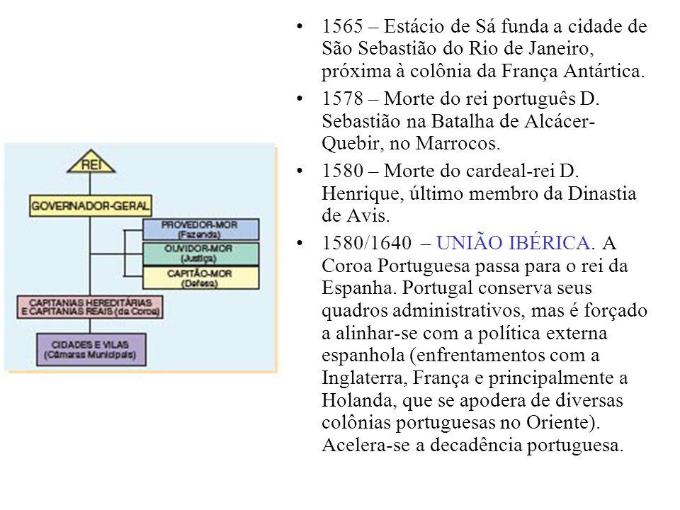 1565 – Estácio de Sá funda a cidade de São Sebastião do Rio de Janeiro, próxima à colônia da França Antártica. 1578 – Morte do rei português D. Sebast