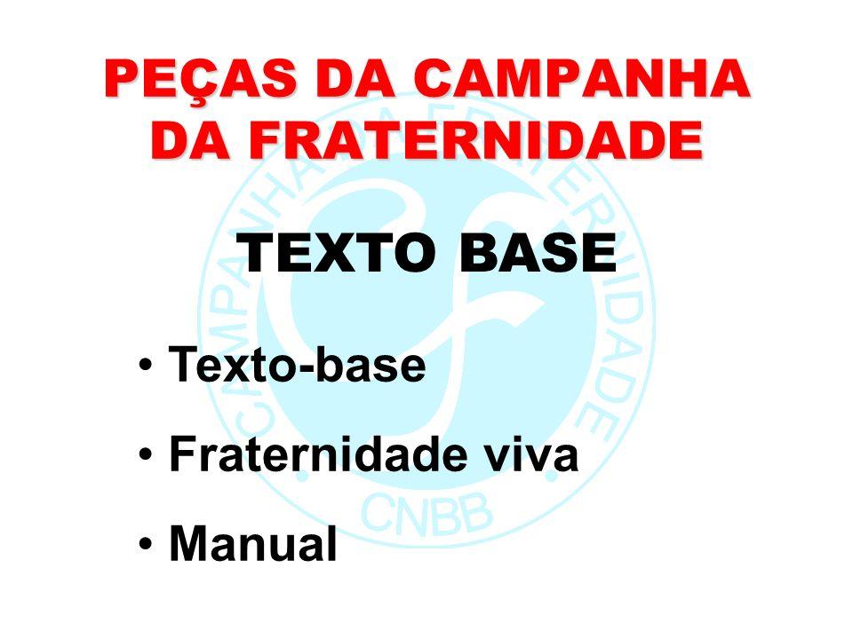 PEÇAS DA CAMPANHA DA FRATERNIDADE Texto-base Fraternidade viva Manual TEXTO BASE