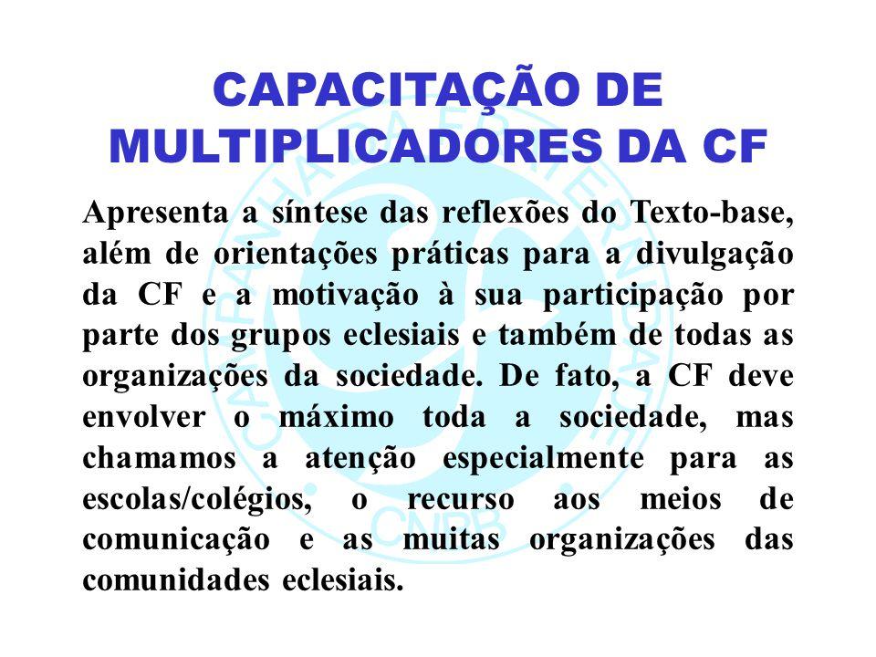 Apresenta a síntese das reflexões do Texto-base, além de orientações práticas para a divulgação da CF e a motivação à sua participação por parte dos grupos eclesiais e também de todas as organizações da sociedade.