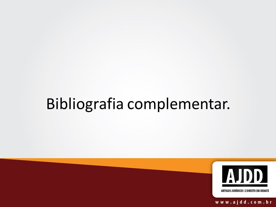 Bibliografia complementar.