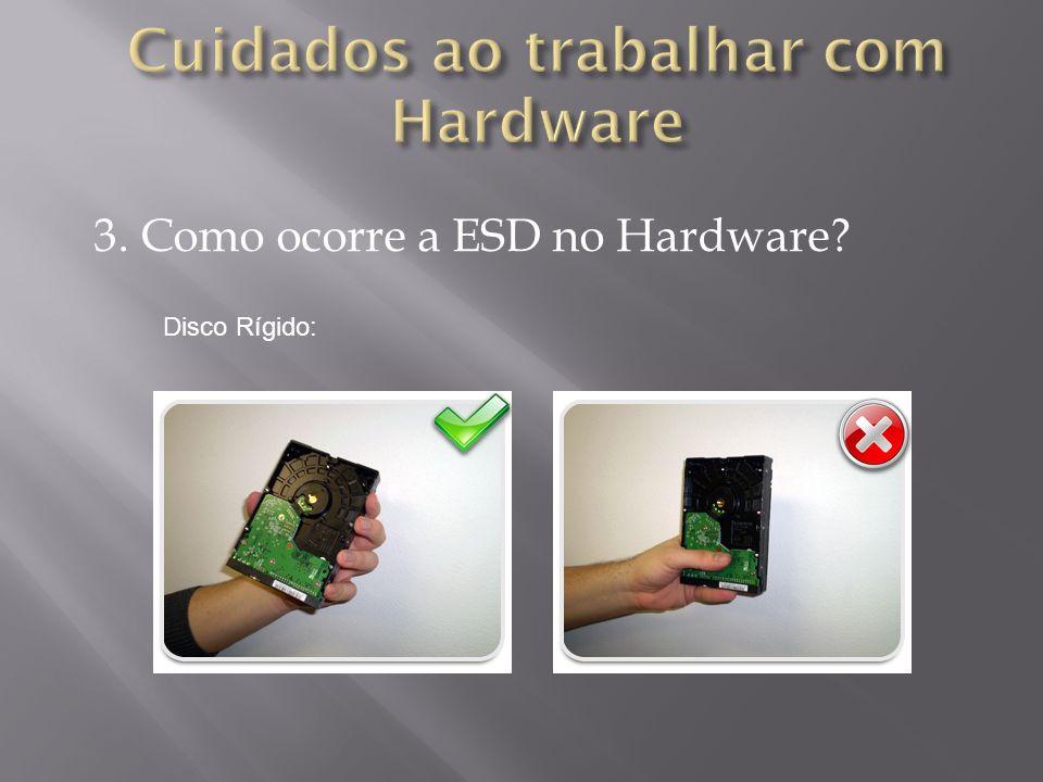 3. Como ocorre a ESD no Hardware? Fonte de alimentação: