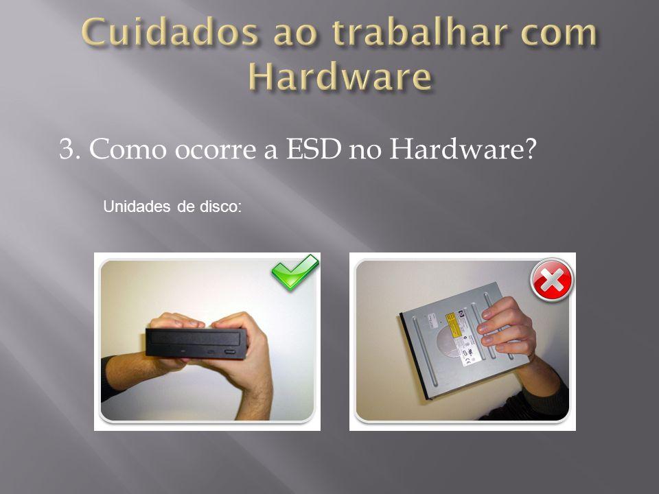 3. Como ocorre a ESD no Hardware? Unidades de disco: