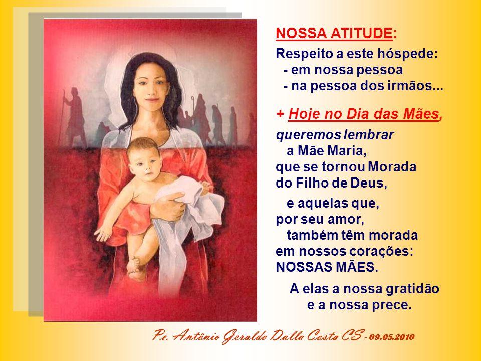 * A Morada de Deus na pessoa, que escuta a Palavra de Jesus, cria uma nova relação entre Deus e a pessoa humana. No culto da nova aliança, mais que em