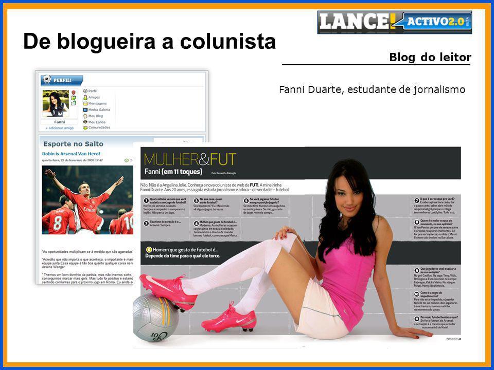Blog do leitor Fanni Duarte, estudante de jornalismo De blogueira a colunista